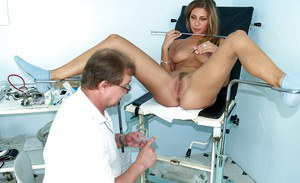 Fetish babe Rachael loves to show that wet pussy to a doctor